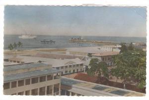 Le Wharf vu de la Cathdrale, Lome, Togo, 40-50s