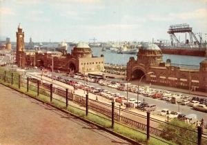 Hamburg St Pauli Landungsbruecken, Landing Stage Schiff Auto Vintage Cars