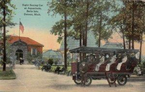 DETROIT, Michigan, PU-19124; Sight Seeing Car at Aquarium, Belle Isle