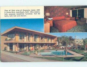 Pre-1980 MOTEL SCENE Long Beach - Near Los Angeles California CA AD8961