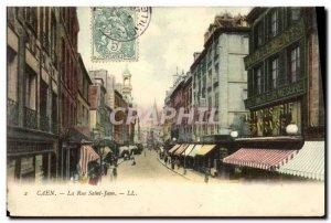 Old Postcard Caen Rue Saint Jean