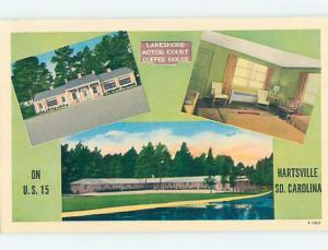 Pre-1980 MOTEL SCENE Hartsville South Carolina SC hk1512