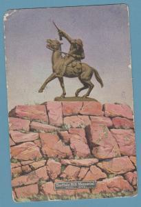 Buffalo Bill Memorial Statue Cody, Wyoming Vtg Postcard