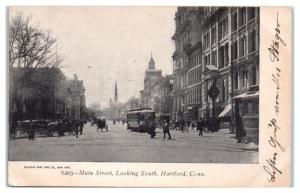 Early 1900s Main Street, looking South, Hartford, CT Postcard
