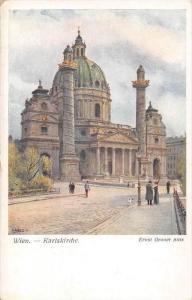 Austria Wien Karlskirche, Church, artist signed Ernest Graner