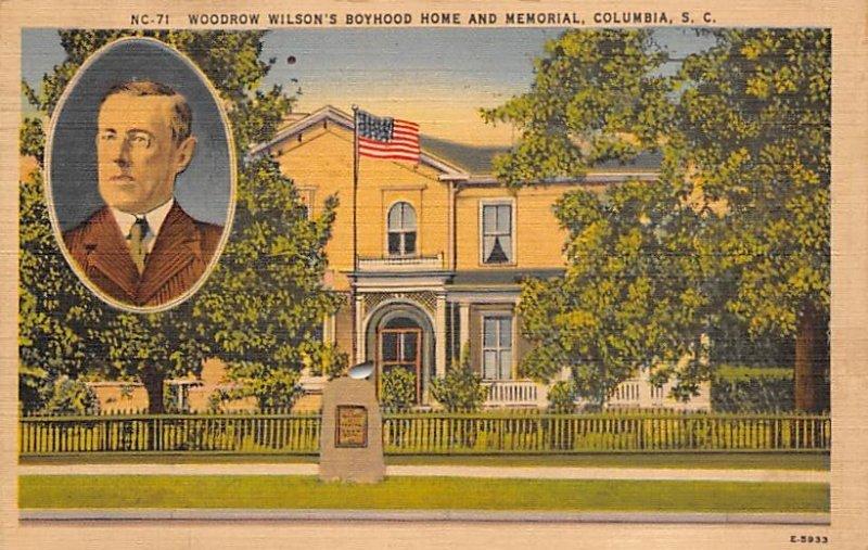Woodrow Wilson's Boyhood Home Memorial Columbia, SC