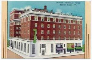 General Brodhead Hotel , Beaver Falls , Pennsylvania, PU-1955