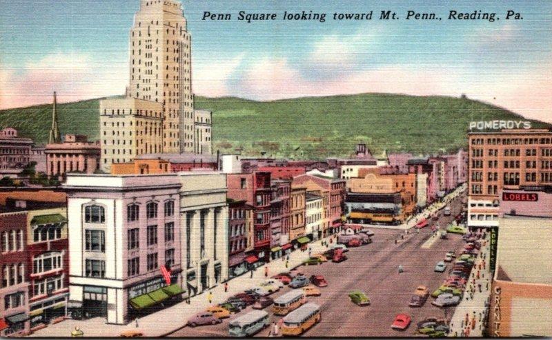 Pennsylvania Reading Penn Square Looking Toward Mt Penn