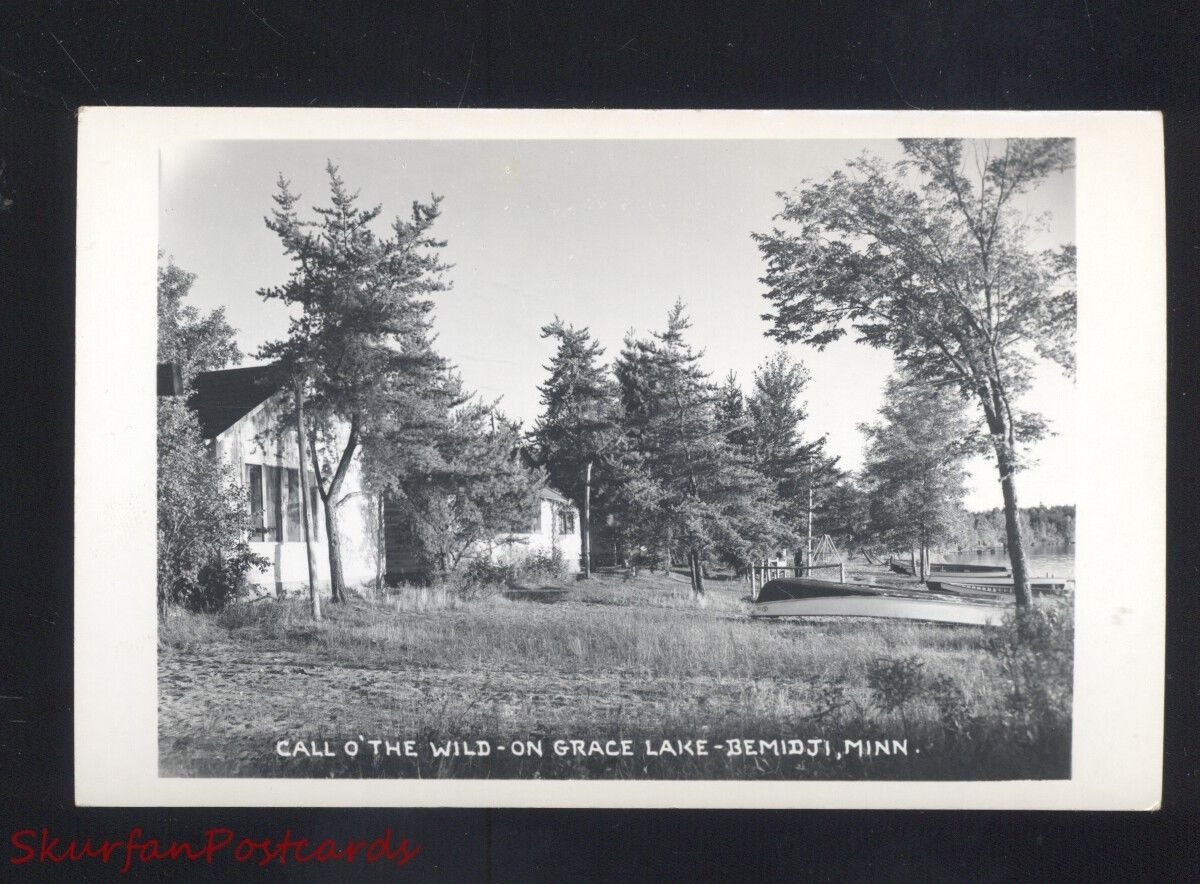 Rppc Bemidji Minnesota Grace Lake Call O The Wild Vintage