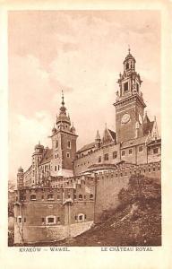 Poland Old Vintage Antique Post Card Krakow Wawel, Le Chateau Royal Unused
