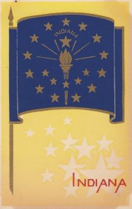 INDIANA , State Flag , 40-50s ; Serigraph