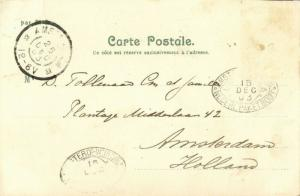haiti, PORT-au-PRINCE, Panorama, Coat of Arms, Emperor Dessalines (1903) Litho