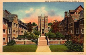 New York Ithaca Baker Court Cornell University 1954 Curteich