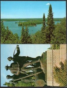 (2) MI AU SABLE River Horseshoe Island Lumbermen's Monument OSCODA - 1950s-1970s