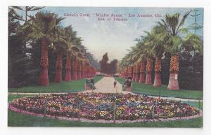 CA Los Angeles Lincoln Park Winter Scene Flower Bed Pansies