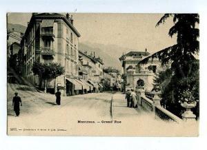 131539 Switzerland MONTREUX Grand Rue Vintage postcard