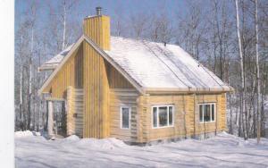 SASKATCHEWAN, Canada, 1950-70s; Log Cabin, Greenwater Provincial Park, Enchan...