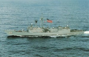 Postcard USS Simpson FFG-56 Guided Missile Frigate