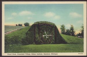 Floral Clock,Greenfield Village,Detroit,MI Postcard