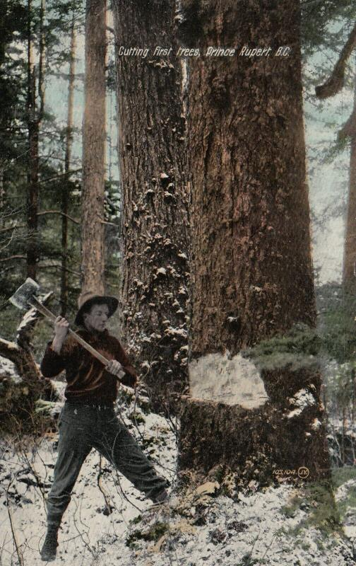 PRINCE RUPERT , B.C., Canada, 00-10s; Cutting first Trees
