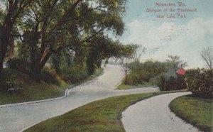 MILWAUKEE, Wisconsin, PU-1910; Glimpse Of The Boulevard Near Lake Park