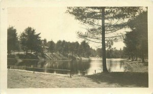 Orange Massachusetts Dam & Pond roadside RPPC Photo Postcard 21-8825