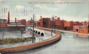 Rochester New York~Erie Canal Aqueduct over Genesee River~City in Bkgd~1912 PC