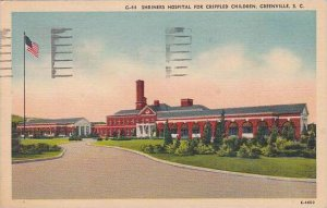 South Carolina Greenville Shriners Hospital For Crippled Children 1954