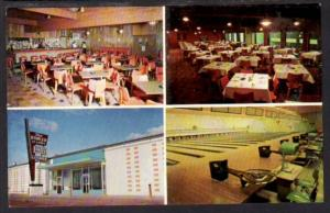 Multi View The Bowler Bowling Alley Fargo ND Postcard 4233