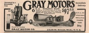 1907 Original Print Ad Gray Motors Detroit Michigan 2P1-6