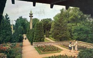Canada - Ontario, Stratford, Shakespearean Garden on bank of Avon River