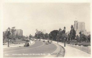 RP: LOS ANGELES , California , 1920-40s ; Westlake Bridge on Wilshire Blvd