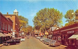 Livermore Falls ME Street View Rexall Drug Cars Vintage Store Fronts Postcard