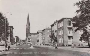 Hengelo Old Bicycle Enschedesestraat Met St Lambertuskerk Holland RPC Postcard