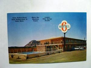 Old Postcard CA Morro Bay Motel 6  Near Beach on Route 1