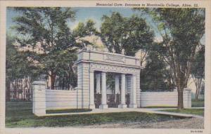 Illinois Alton Memorial Gate Entrance To Monticello College