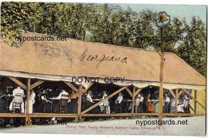 Dining Tent, Young Womens Summer Camp, Altamont NY