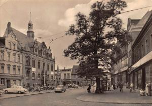 Schoenebeck Elbe, Rathaus Town Hall Motorcycles Vintage Cars Auto