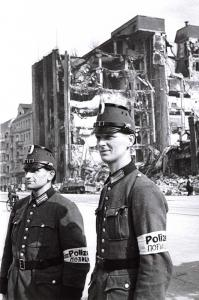 Vintage Reproduction Postcard, WW2 The Fall of Berlin 1945, German Policemen 34A