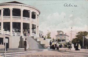 Maine Cape Elizabeth Cape Cottage Casino Main Entrance 1909