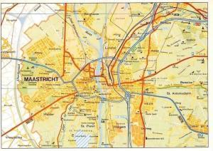 Netherlands Maastricht Map Heugem St. Pieter De Heeg Limmel