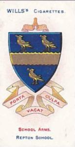 Wills Vintage Cigarette Card School Arms 1906 No 21 Repton School