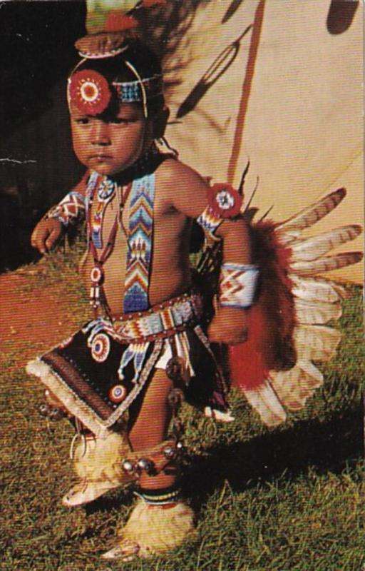 Little Nonnie 2 Year Old Pawnee-Otoe Indian Dancer 1974