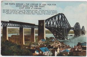 FORTH BRIDGE WITH STATS, SCOTLAND