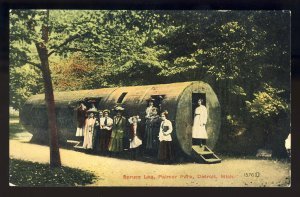 Detroit, Michigan/MI Postcard, Spruce Log, Palmer Park