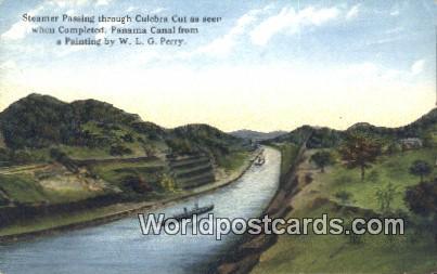 Panama Panama Canal Steamer Passing, Culebra Cut