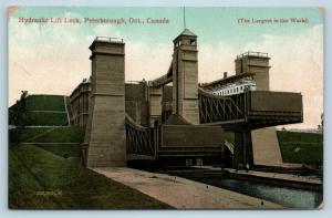 Postcard Canada Ontario Peterborough Hydraulic Lift Lock c1914 View Q10
