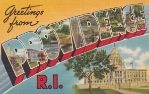 LARGE LETTER, PROVIDENCE, Rhode Island, 1930-1940's