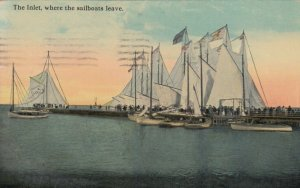 ATLANTIC CITY , New Jersey , 1914 ;  The Inlet, where the sailboats leave