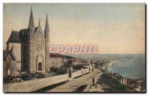 Old Postcard Le Havre The Chapel of Our Lady the waves